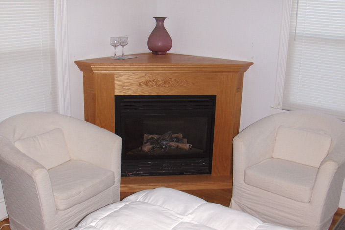 Seating Area with Fireplace.