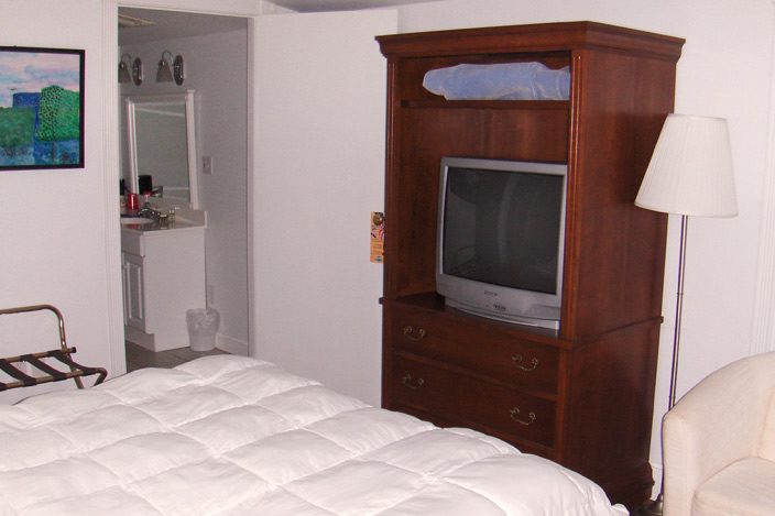 Queen Size Bed and TV