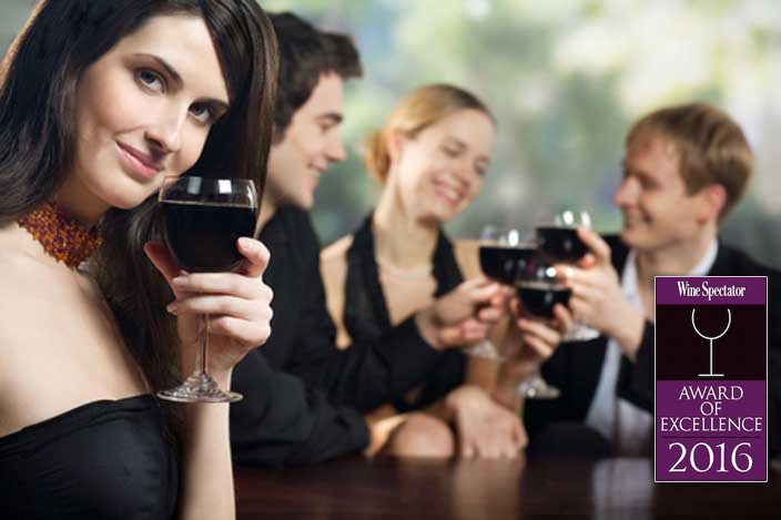 People enjoying wine